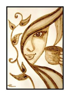 my sunday 10 february 2013 starting coffee art coffee painting coffee drawing