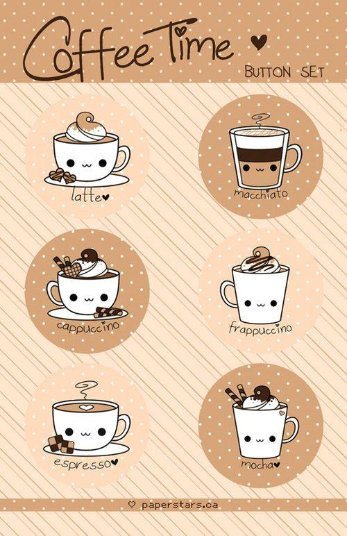 easy to draw dibujos con cafe dibujos kawaii pegatinas kawaii bonito pinturas