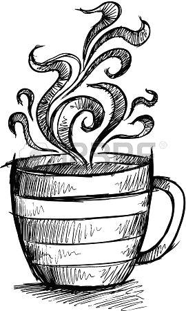 sketch doodle coffee cup illustration art