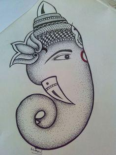 ganesha sketch marriage symbols ganesh tattoo glass painting designs indian drawing