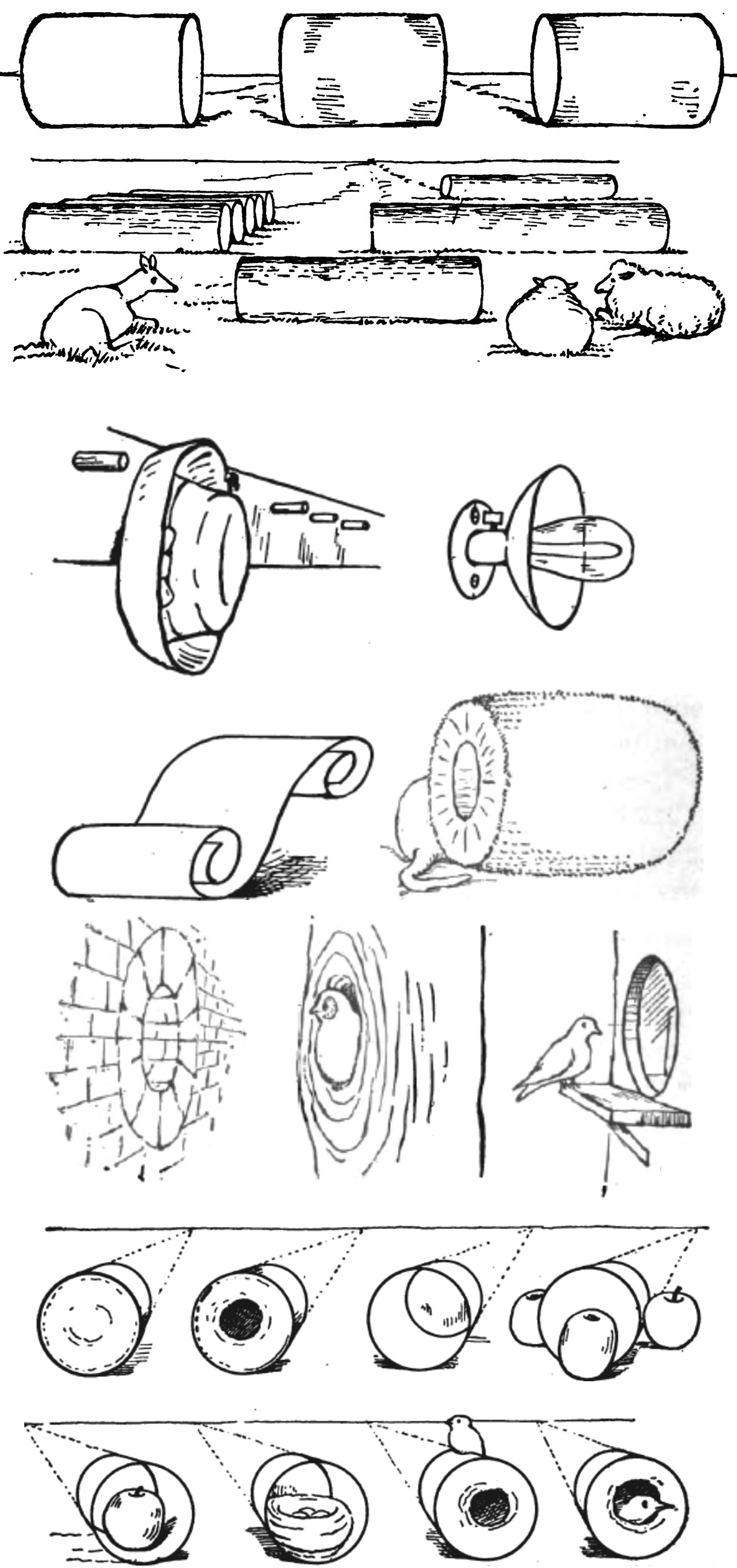drawing things from cylinders