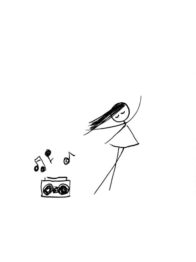 give her music so she can dance easy drawings doodle drawings