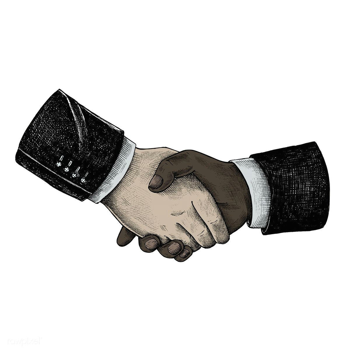 hand drawn international business handshake premium image by rawpixel com how to draw hands