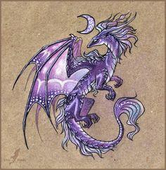 dragon of a violet moon by alvia alcedo