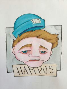 hampus hedemaki red eye high sketch drawing guy