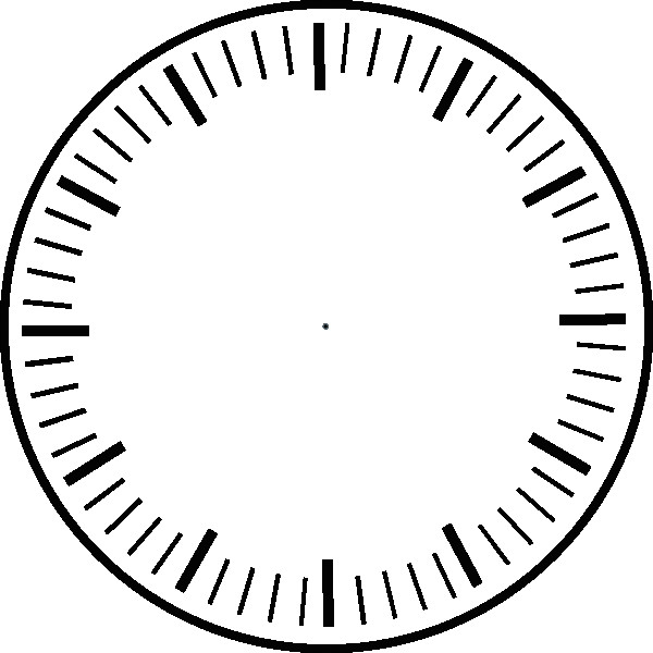 clock face hour and minute marks no hands clip art at clipart library
