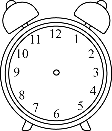 black and white alarm clock without hands school clipart library