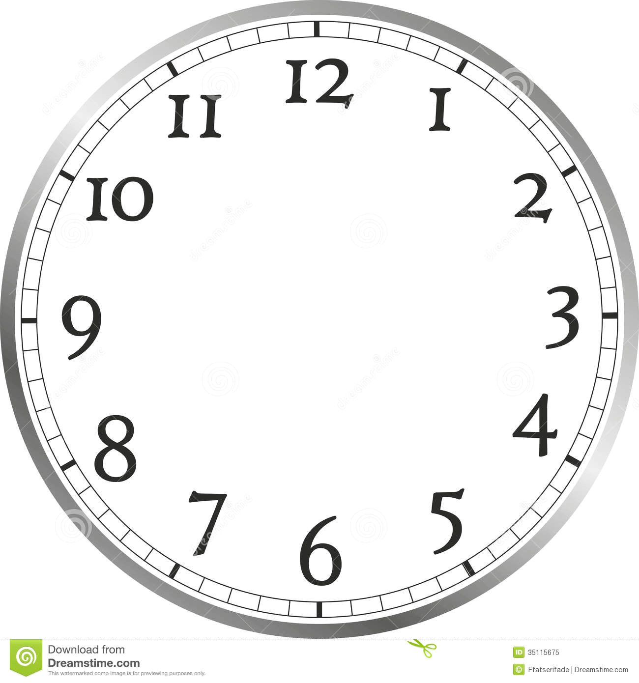 free clip art picture of a clock face without hands school clipart