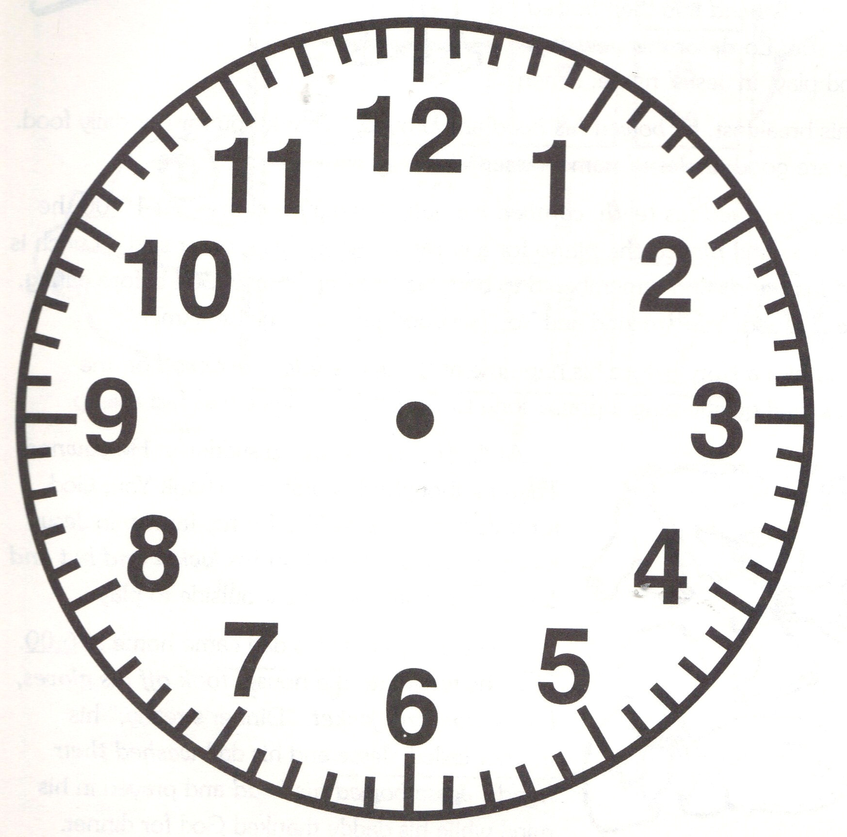 printable clock face without hands clipart library