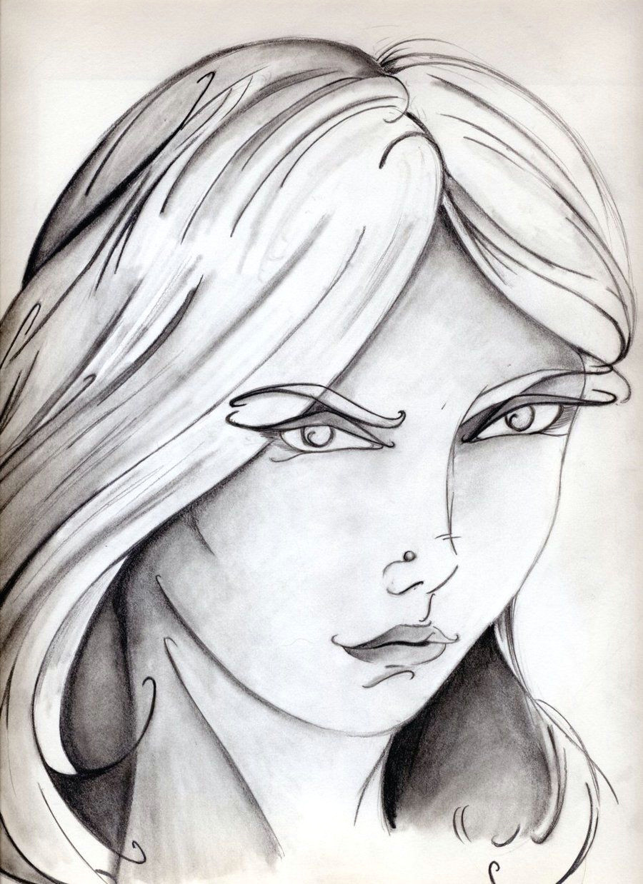 Drawings Of Crazy Eyes Girl with the Curvy Eyebrows by Ferrell32 Deviantart Com My