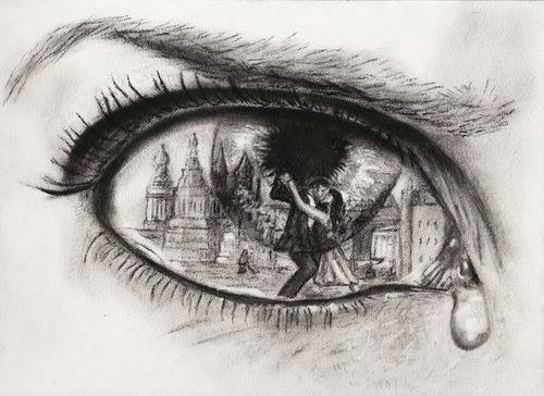 isaiah stephens emotional eyes drawing draws attention to the sad expression and story