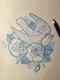 dove amp roses tattoo design drawing by mr curtis at tribalbodyart co