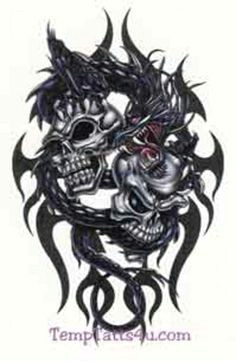 tattoos of skulls and dragons google search