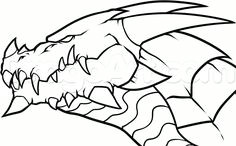 draw a dragon head step by step drawing sheets added by dawn