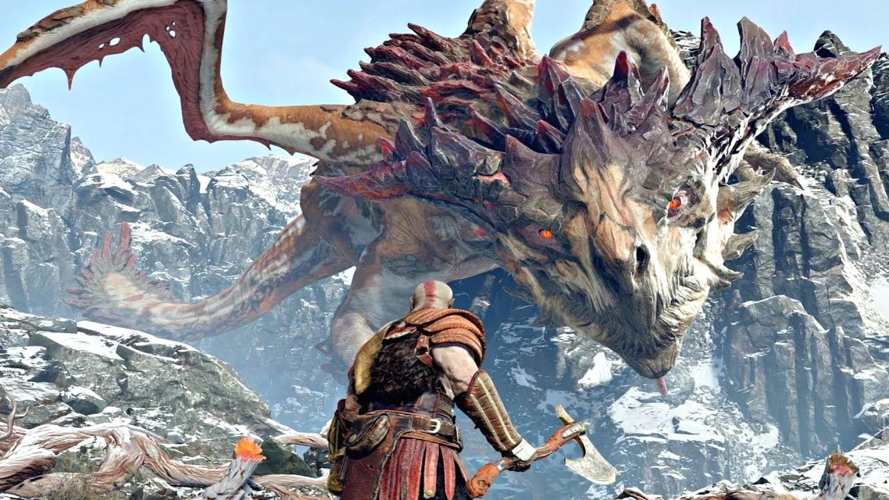 god of war 4 dragon boss fight 7 god of war 2018 ps4 pro