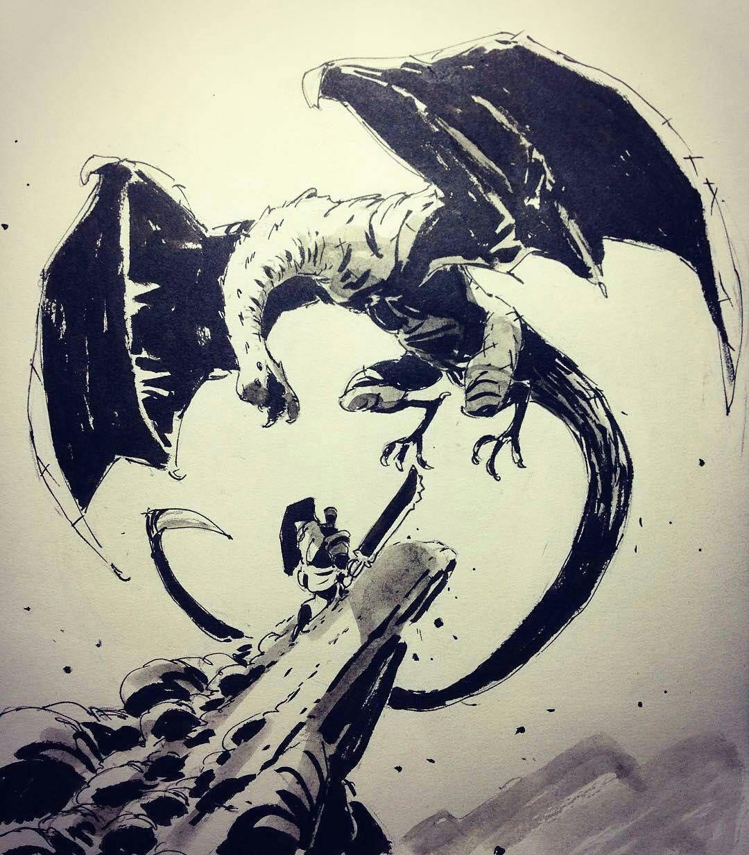 killer piece of fantasyart by one my favorite instagram artists ullikummi of a dragon