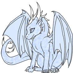 simple dragon dragon adopt 2 ice dragon closed by thekittengavroche