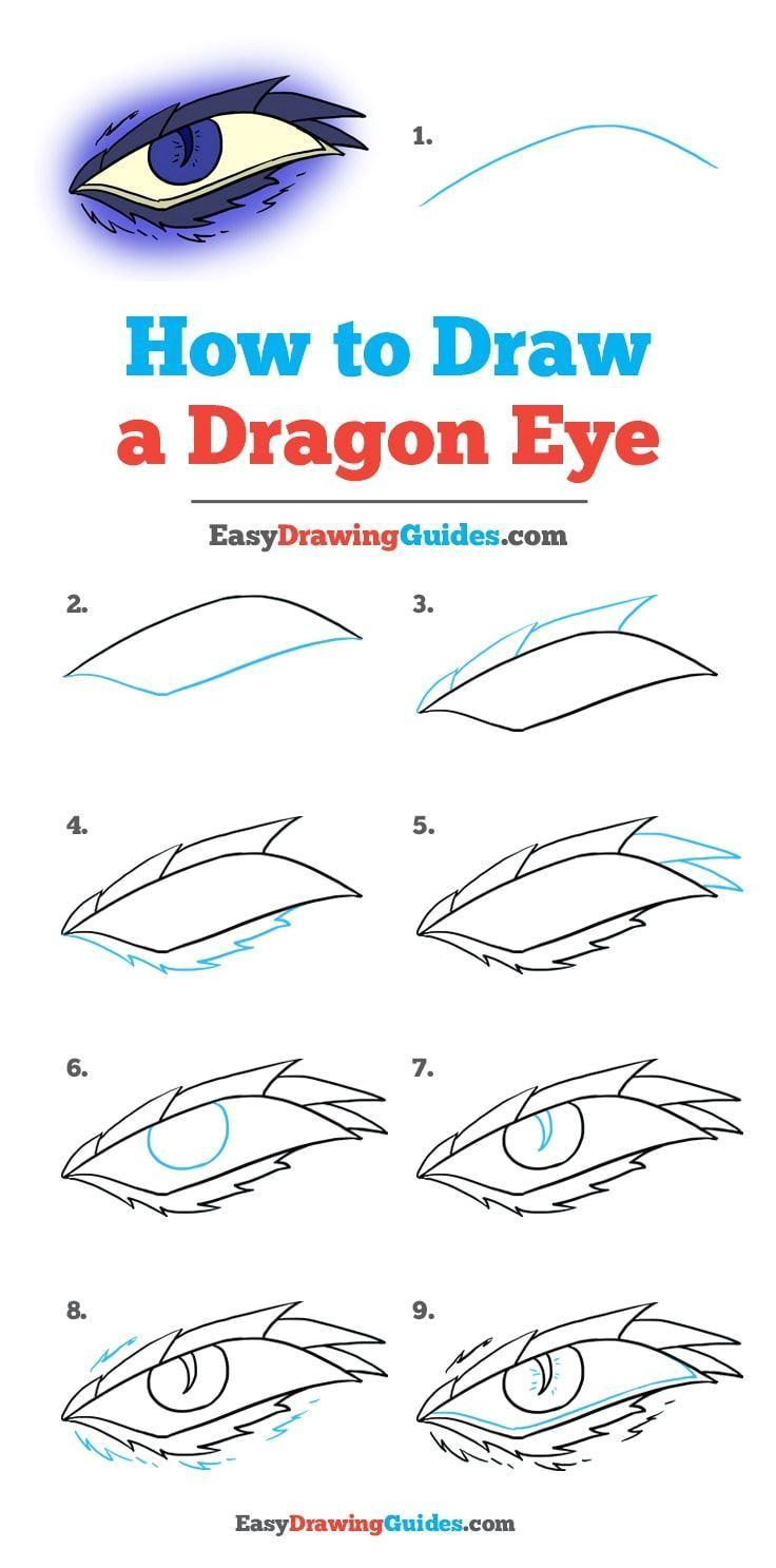 learn how to draw a dragon eye easy step by step drawing tutorial