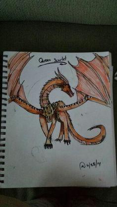 queen scarlet wings of fire