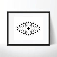 evil eye print spiritual print evil eye art spiritual art boho print boho art digital download printable wall art digital print