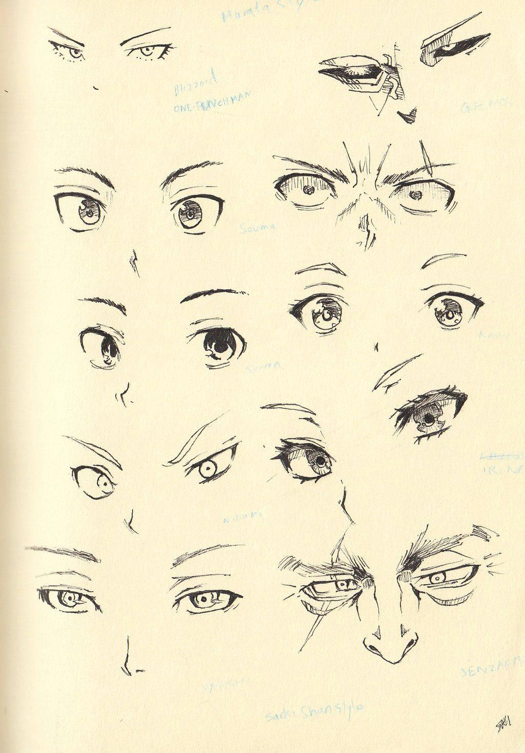 sketch 20 eyes and nose by shiryu37 deviantart com on deviantart