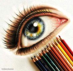 colored eye drawing by steven gunawan