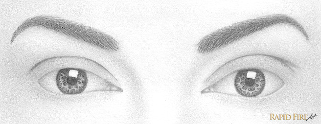 shade the rest of the white space using the contouring method if you want a more detailed tutorial on shading eyeballs visit this tutorial
