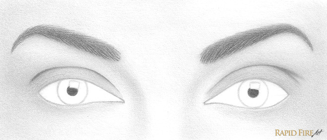 use a sharp 6b pencil to shade the pupil try to keep your edges as clean as possible