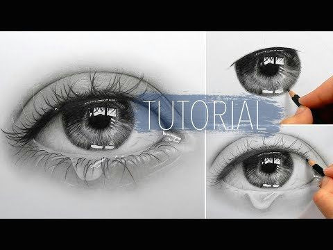 Drawings Of Eyes Youtube Timelapse Drawing Shading A Realistic Eye and Teardrop with