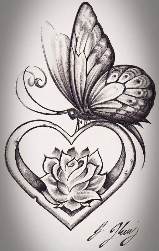 flower and butterfly tattoos butterfly sketch heart with flowers tattoo flower foot tattoos