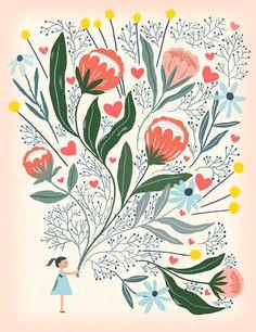 chris silas neal flowers illustrationbotanical illustrationgraphic illustrationmothers day