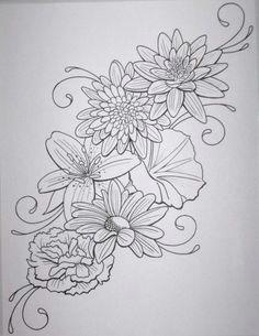 0a60b16c120754ac97bd9b6563ce495c jpg 470a 608 flower outline tattoo tattoo flowers flower