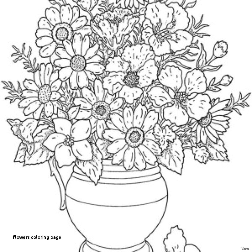 flowers coloring page new cool vases flower vase coloring page pages flowers in a top i
