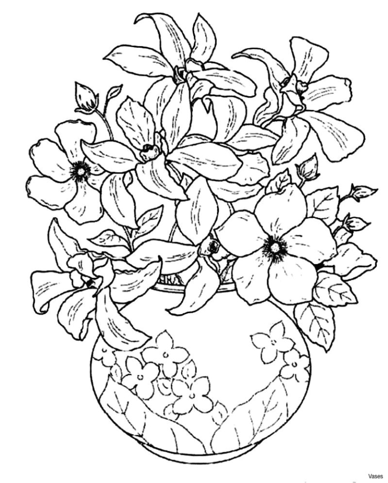 flowers coloring pages cool vases flower vase coloring page pages flowers in a top i 0d