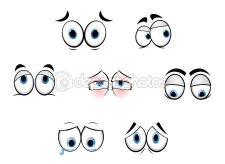 cartoon funny eyes by seamartini stock vector