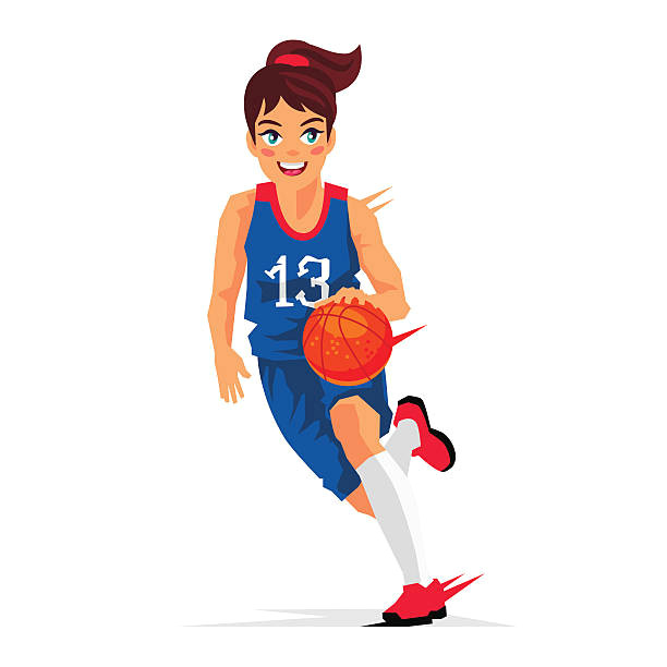 Drawings Of Girl Basketball Players Royalty Free Girls Basketball Clip Art Vector Images