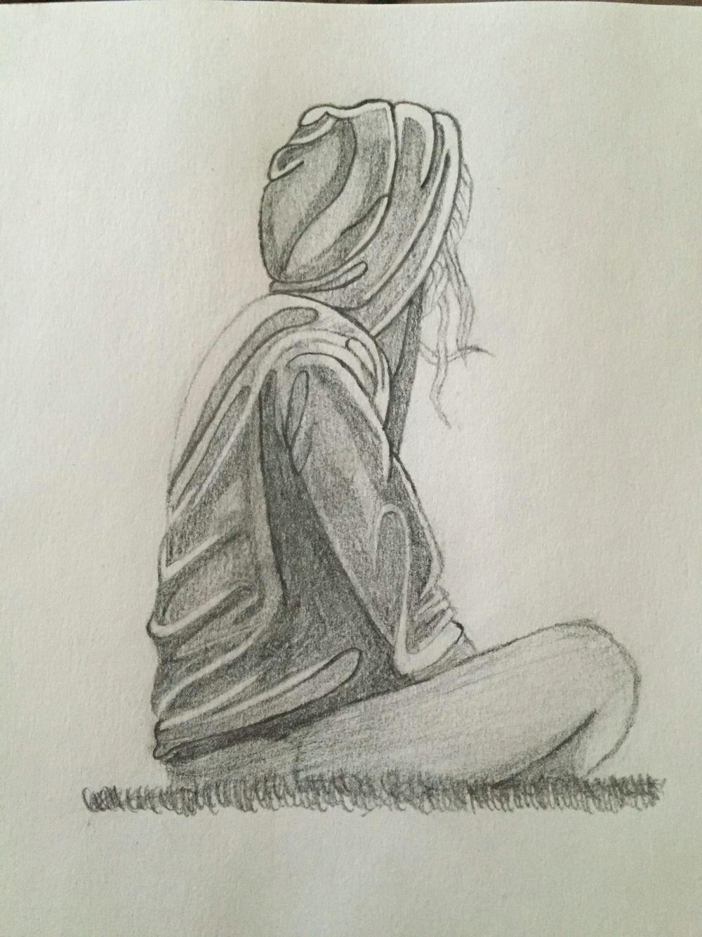 Drawings Of Girl Depressed Depression Sketch Depression Drawings Pencil Drawings Sketches