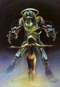 girl and robot by rinaldo max 1988