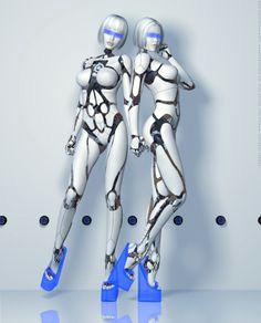 fembot s together by blacksheepart blade runner cyberpunk madchen cyberpunk charakter robotermadchen cyborg