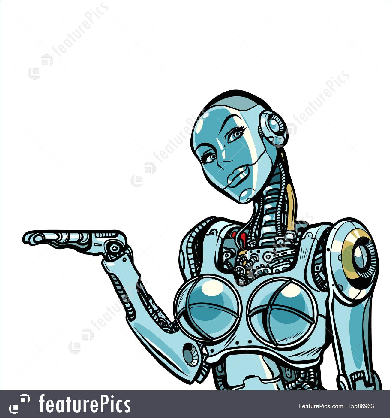 woman robot royalty free stock illustration