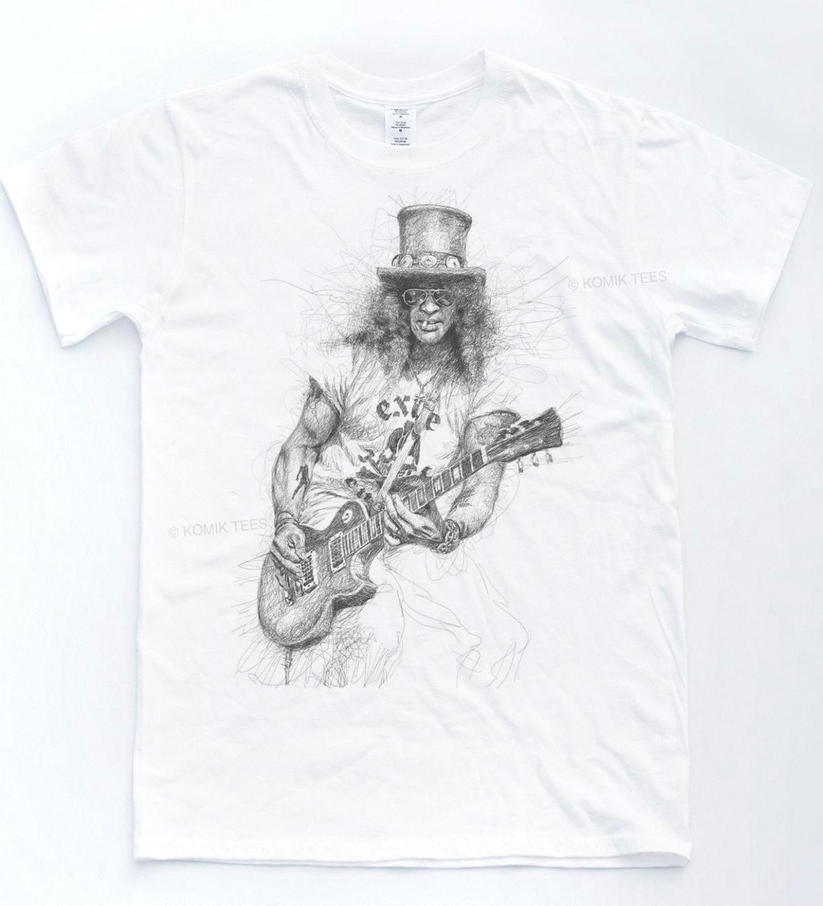 slash sketch t shirt rock music guns velvet roses tee indie music revolver top suit hat pink t shirt hilarious tee shirts online t shirt buy from lijian78