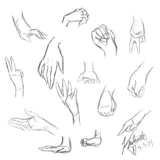 hand practice anime sketch hand anaotomy girls