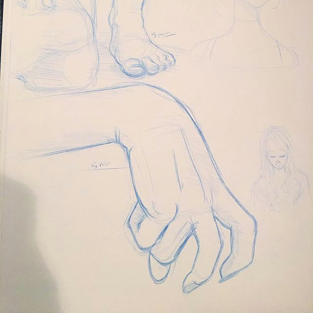 working on some 5 minute studies of hands and feet in my sketchbook wanting to really grow this year study drawing sketch sketching sketchbook draw
