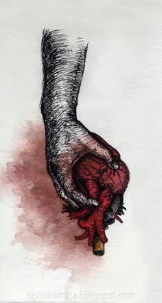 be careful who holds your heart art design broken heart wallpaper hand