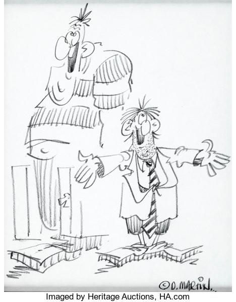 original comic art sketches don martin fester bestertester and karbunkle sketch originalart c