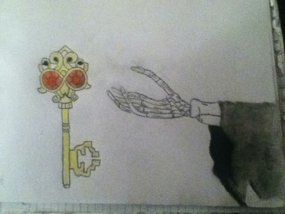 a skeleton hand reaching out to a skeleton key one of last year s drawings