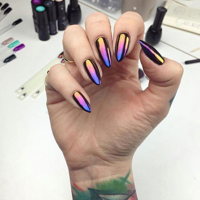 nazywam to mia oa cia od pierwszego ba ysku ombre z kolora w 1 3 i 5 pya ka w sunset effect neonailpoland hybrydy manicure ombre instanails neonail
