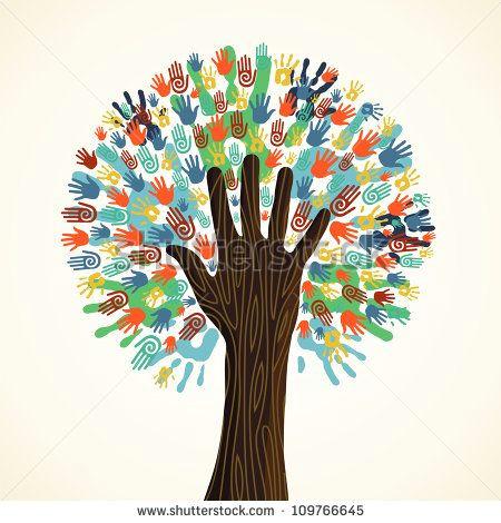 helping hand stock vectors vector clip art shutterstock volunteers ideas community helping hands