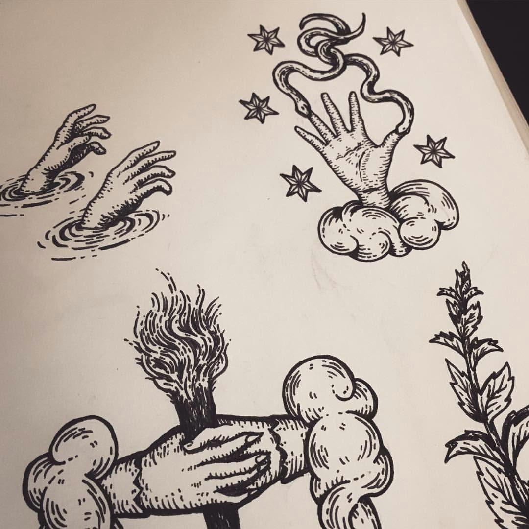 helping hands sketchbook poisonappleprintshop