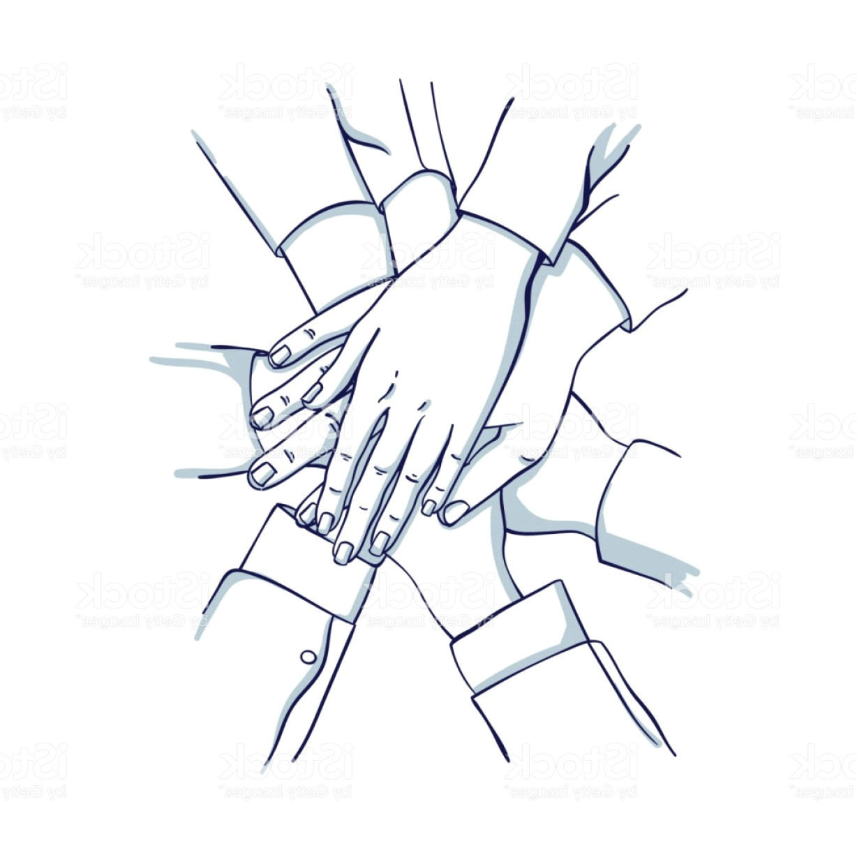 helping hands vector images in business stack of business hands gm